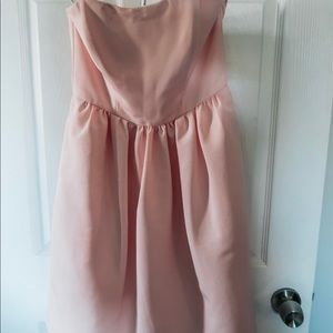 Baby Pink strapless Dress